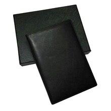 Homem de couro genuíno m.b passaporte carteira com porta cartão cidade jogging sacos