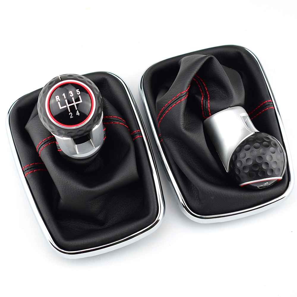 12mm 5/6 Speed Car Styling Gear Shift Knob Gaiter Boot For <font><b>Volkswagen</b></font> VW <font><b>Golf</b></font> <font><b>4</b></font> <font><b>MK4</b></font> Bora Jetta GTI R32 1999-2004 image