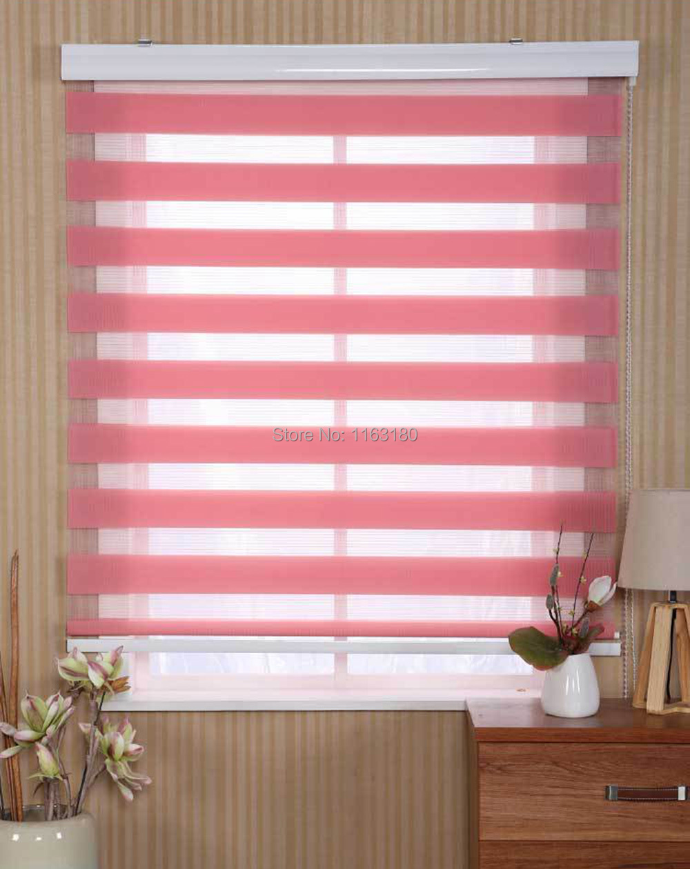 Customized Size Zebra Blind Double Layer Roller Blind Easy To Install Shutters Free Shipping