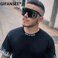 GIFANSEE Sport Sunglasses men one piece 2020 Women Oversize Mask Shape