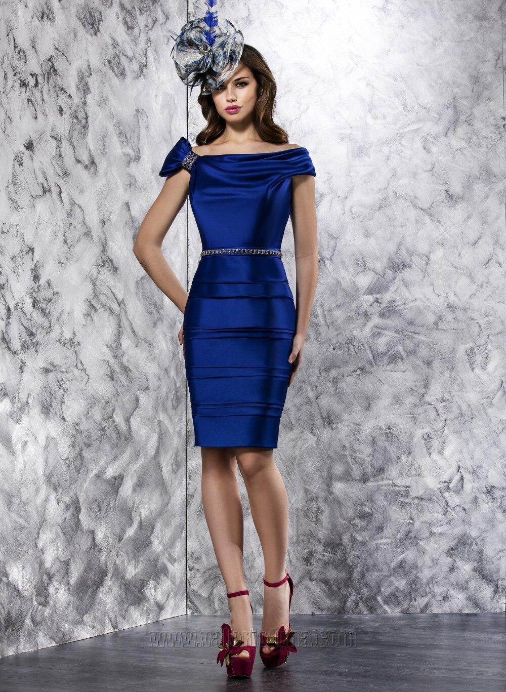 New Gorgeous Plus Size Short Vestidos De Madrina Bateau Knee Length Woman Groom Mother Of The Bride Wedding Evening Dresses 2015