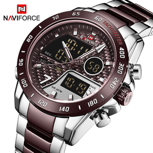 Image 3 - Naviforce homens relógio digital led esporte militar dos homens de quartzo relógio de pulso masculino luminoso à prova dwaterproof água relógios relogio masculino