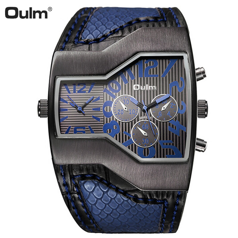 Oulm Luxury Brand <font><b>Watch</b></font> Mens <font><b>Watches</b></font> Top Brand Luxury Quartz <font><b>Watch</b></font> Men Unique Design Fashion Steampunk Sport <font><b>Watch</b></font> Reloj Hombre image