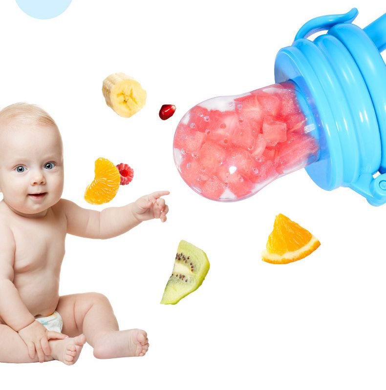 Food Bite Bag Baby Pacifiter Fruit Vegetable Feeder Baby Food Supplement Trainer Baby Pacifier Toddler Feeding Nipple Soother