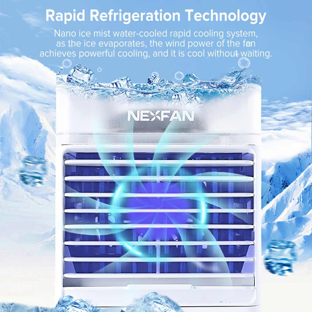 UVC sterilizasyon Mini taşınabilir klima nemlendirici HAVA SOĞUTUCU kişisel uzay hava soğutma USB şarj edilebilir ev masa fanı