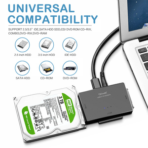 Image 3 - QGeeM SATA to USB IDE Adapter USB 3.0 Sata 2.5 3.5 Hard Disk Drive HDD SSD USB Converter IDE SATA to USB SATA Adapter Cable