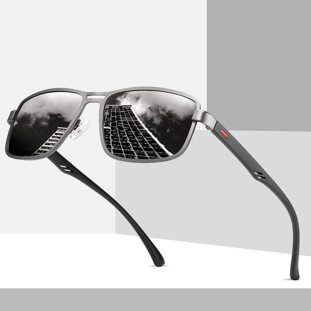 2020 Unisex Zwarte Zonnebril Gepolariseerde Zonnebril Vrouwen Zonnebril Heren UV400 Bescherming Eyewear Accessoires Zonnebril Rits Case