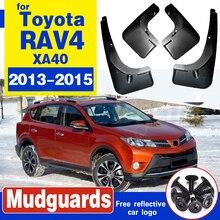 цена на Car Mudguards For Toyota RAV 4 2013-2015 Car Fender Accessories Splash Guard Paneling 2013 2014 2015
