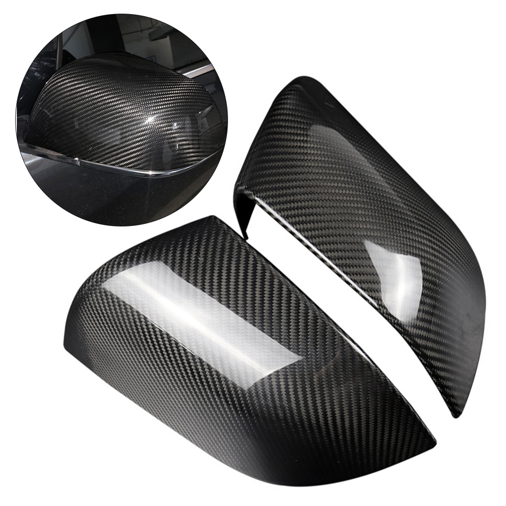Replacement Carbon Fiber Side Mirror Cover Fits For Cadillac ATS-L 2014-2018