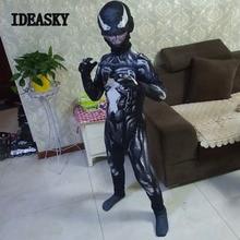 Nieuwe symbiont spiderman venom kostuum kids pak jumpsuit masker jongens nieuwjaar Cosplay halloween kostuums voor mannen volwassen superheros