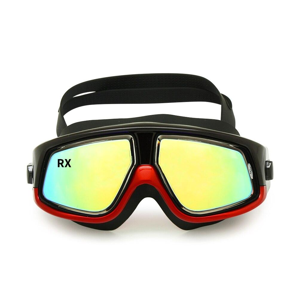 Rx Prescription Swimming Glasses Hyperopia Myopia Optical Swim Goggles Corrective Snorkel Mask Free Ear Plugs Storage
