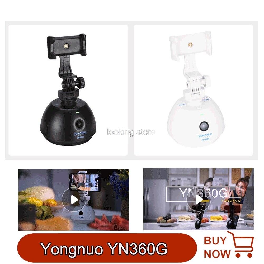 Yongnuo yn360g inteligente seguir pan/tilt auto motorizado girando 360 ° follow-up tiro cabeça de tripé de vídeo para câmera smartphone