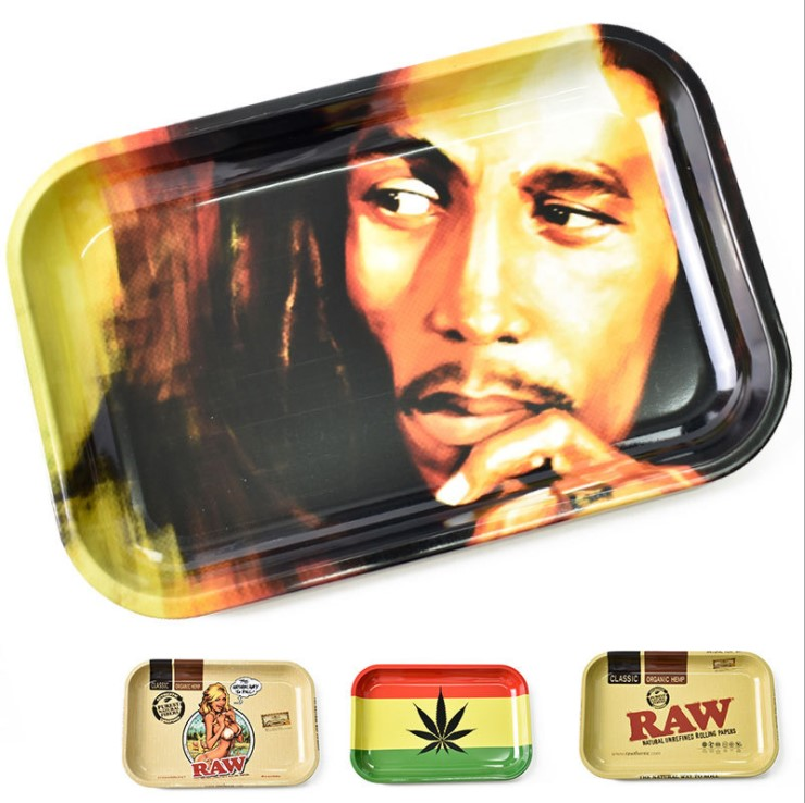 28cm*18cm Rolling Tray Rolling Papers Cigarette Smoke Smoking Accessories Tool Tobacco Storage Plate Discs For Herb Grinder C148