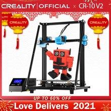 Stampante 3D CREALITY stampante CR-10 V2 grande stampa Siz scheda madre silenziosa riprendi stampa con alimentazione media