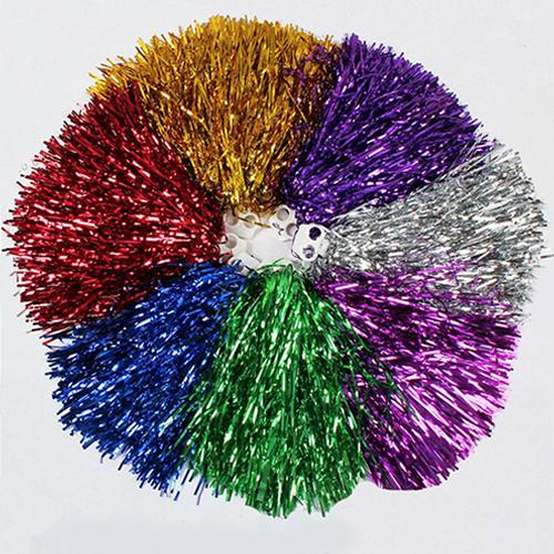 1Pc Metallic Game Pom Poms Cheap Practical Cheerleader Dance Party Team Match Sports Vocal Cncert Cheer Cheerleading Pom Poms