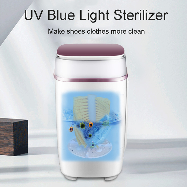 5kg Shoes Washing Machine Mini Single Tube Washer and Dryer Machine for Shoes Clothes Dual-use Clothes Washer Shoes Cleaner 220V 1