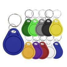 UID Fob-Etiquetas de acceso 1K S50 RFID, 5 uds., 13,56 MHz, bloque 0, tarjeta IC escribible, clon, teclas inteligentes Keyfobs, Control de acceso