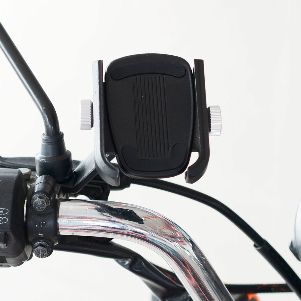Universal Motorcycle Phone Holder Mirror Mount Aluminum Alloy Phone Stand 360 Degrees Rotation Mount For Width 5.9-8.7CM Phone