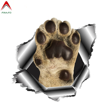 Aliauto Funny Dog Paw Car Sticker 3D Torn Metal Automobiles Motorcycles Accessories Cover Scratches Vinyl Decal 13cm*13cm cheap The Whole Body Glue Sticker Stickers Animal Creative Stickers Not Packaged