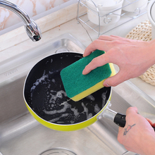 Stainless Steel Scourer Wire Dish Pot Kitchen Cleaning Ball Sponge Scrubber Washing Brush Magic Cleaner Tool
