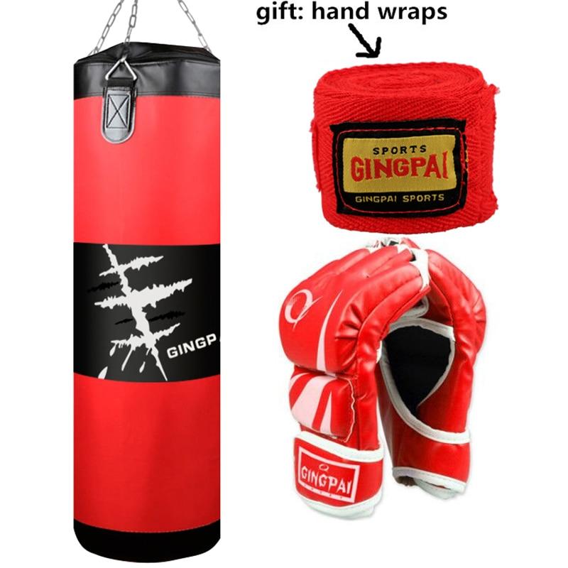 High Quality MMA Sandbags Boxing MMA Series / Boxing Sand Bags / (Empty Boxing Bag)100cm /Boxing Gloves Punching Bags Hand Wraps
