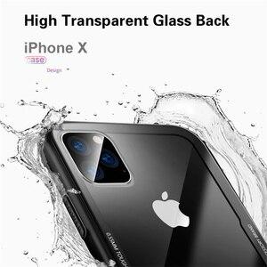 Image 4 - Gehärtetem Glas Fall Für iPhone 12 12Pro 11 Pro X XR XS Max SE2 Hohe Qualität Klar Weichen Silikon Glas abdeckung Für iPhone 7 8 Plus