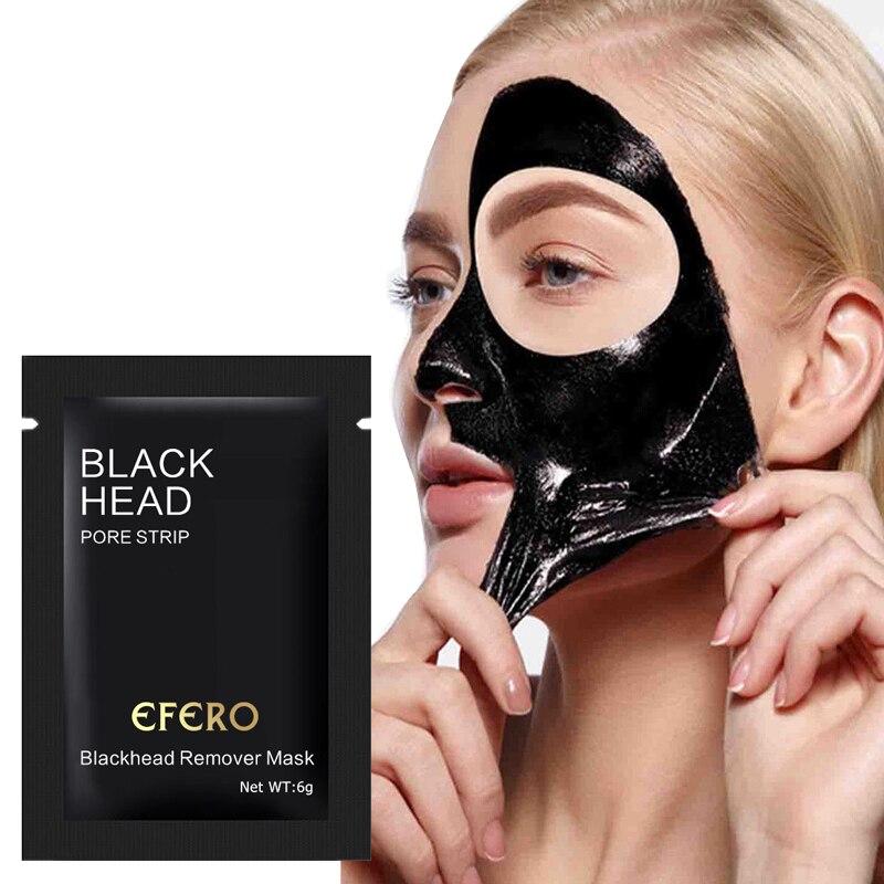 5Pack Máscara Facial Removedor de Cravo Nariz Máscara Tira Poros Máscara Preta Descascar Máscara de Limpeza Profunda o Tratamento Da Acne Cabeça Preta skinCare