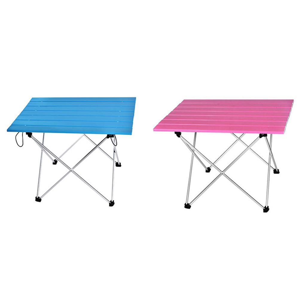 Aluminum Hard-Topped Portable Table Foldable Folding Camping Hiking Table Travel Outdoor Picnic Aluminum Beach Table
