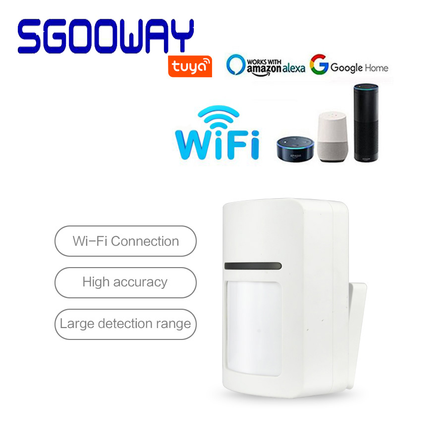 Sgooway  Tuya Alarm Smart PIR Motion Detector Sensor  Compatible  With Tuya Smart Life APP