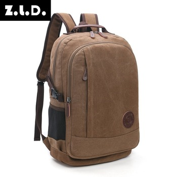 Wear Resistant Wash Canvas Men And Women Backpack Street Leisure Big Capacity More Function