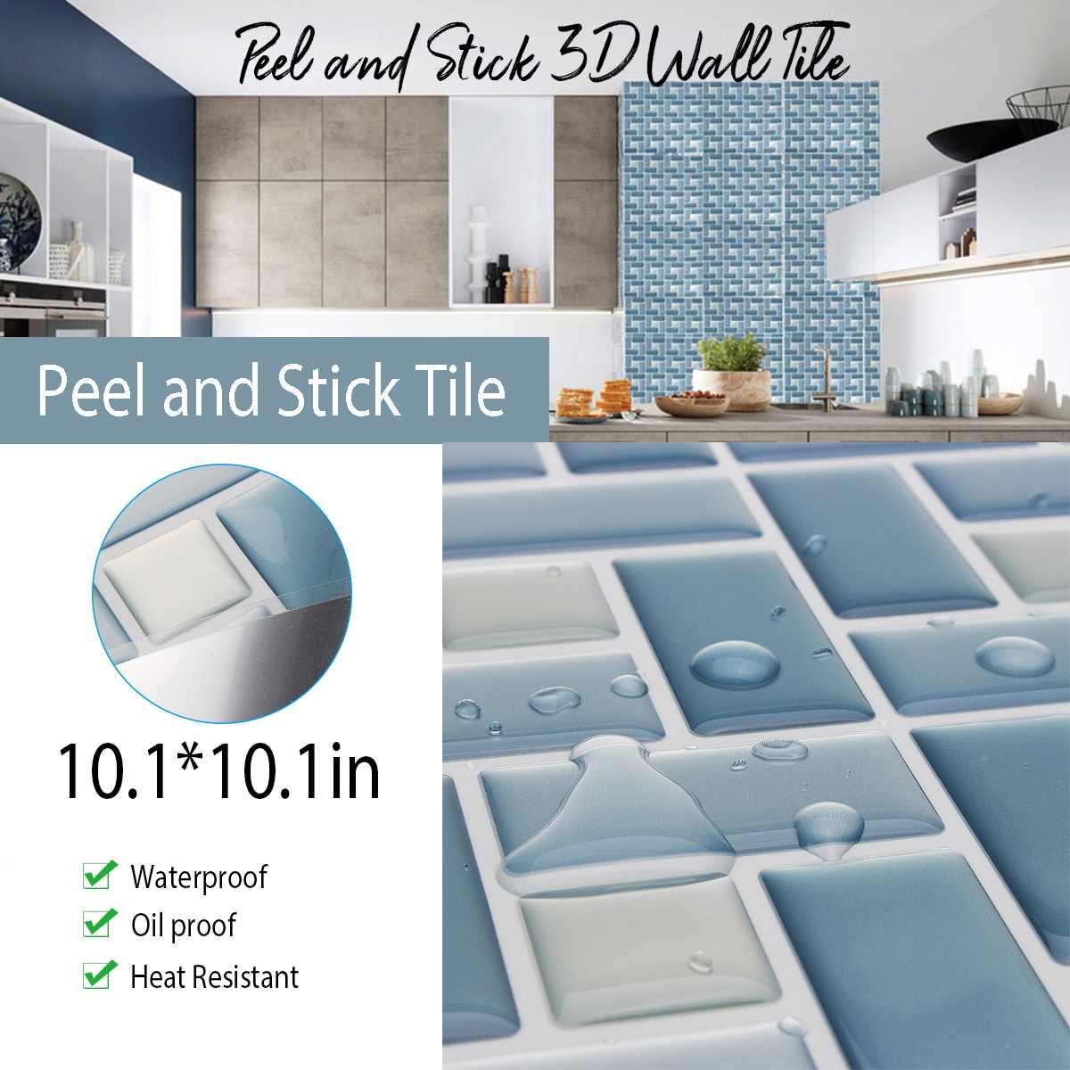 wall tile stickers mosaic peel stick