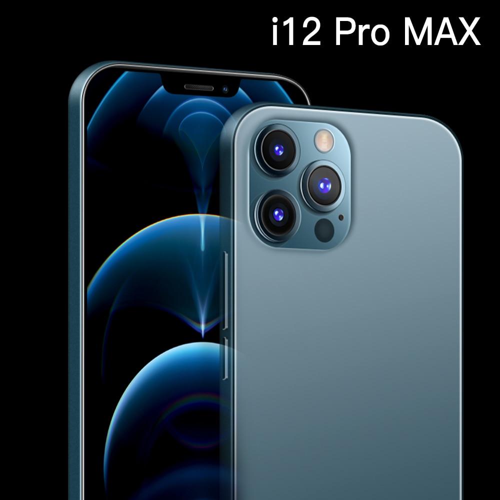 I12 Pro Max тройной Камера 48MP селфи Snapdragon 865 смартфон 12 Гб + 512 Гб 6,7 дюймов 5000 мАч Android 10,0 Deca Core, размер экрана 4G 5G LTE
