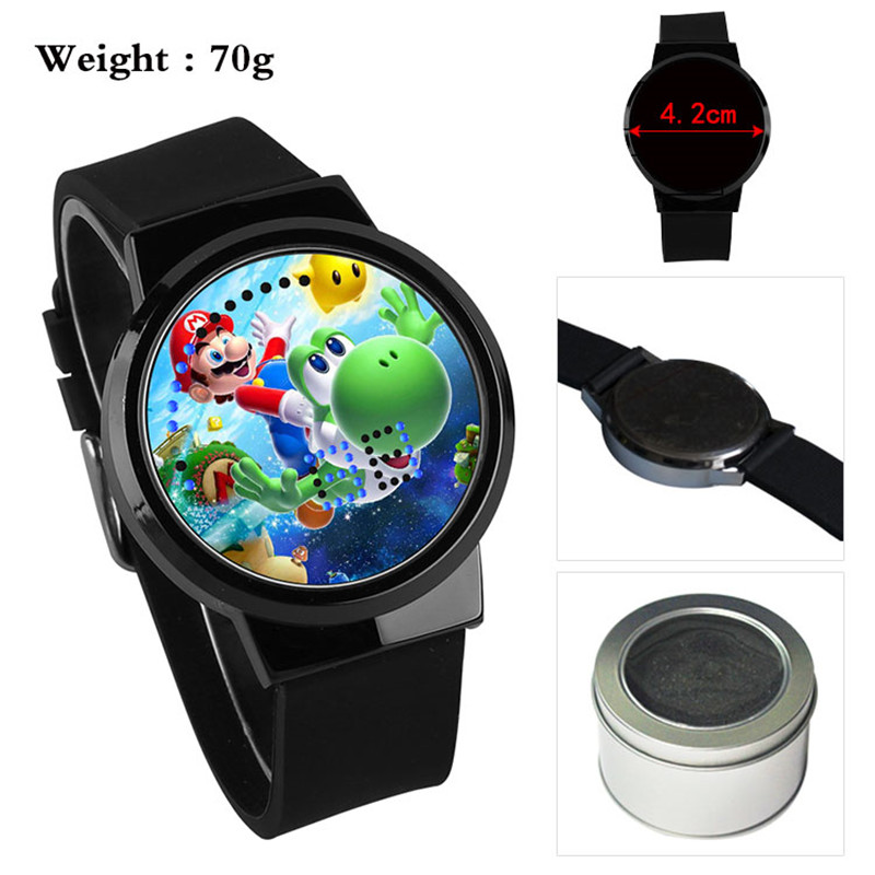 Super Mario Bros Game Boys Girls Watch Waterproof LED Touch Screen Wrist Watches Watch Student Gift