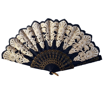 10pcs wedding gifts Chinese Style Fan for Dance Wedding Party favor Folding Hand Held Flower Decorative Fans