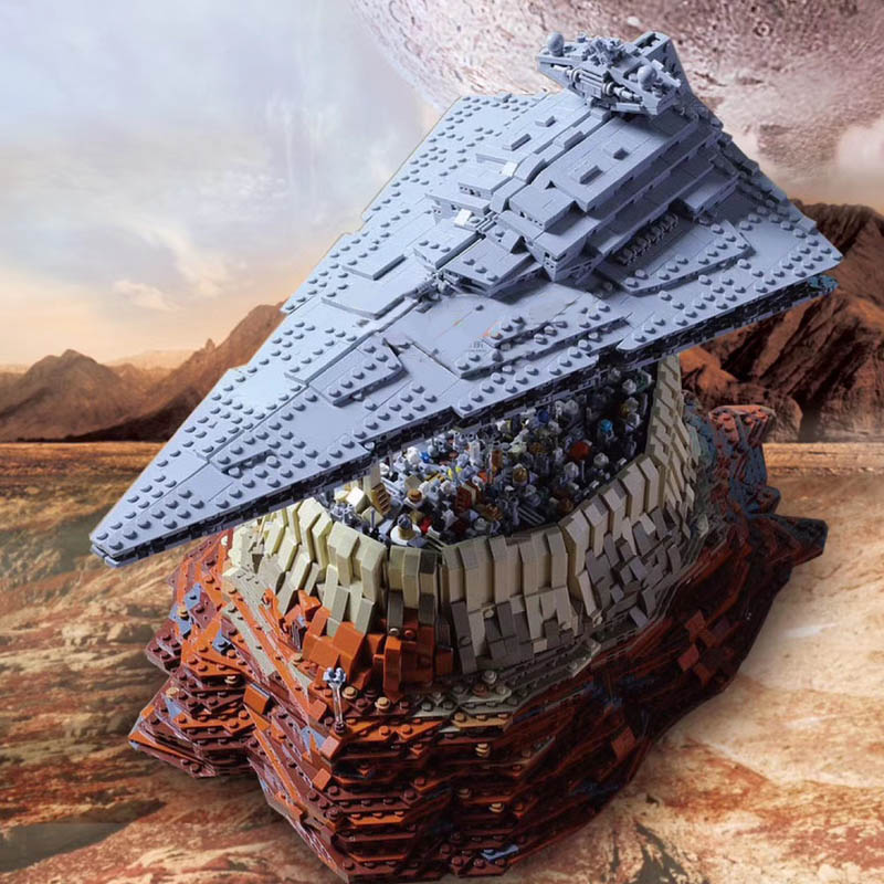 Lepining Lepinlys Star Wars Toys MOC 18916 The Empire Over Jedha City Model Building Kit Blocks Christmas Gifts