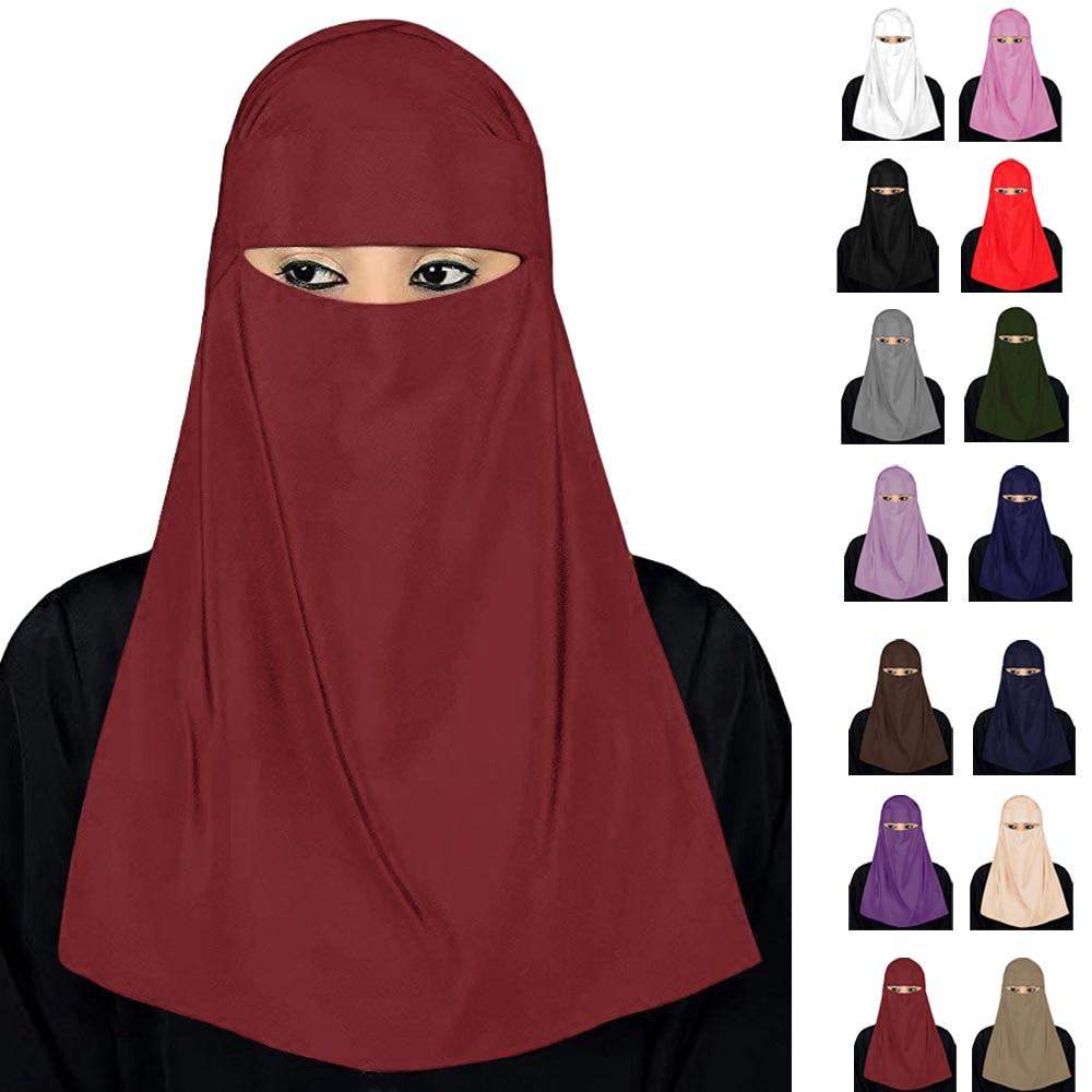 Ramadan India Niqab Muslim Hijab Arab Islamic Khimar Face Cover Veil Burqa Burka Nikab Prayer Modest Wear Full Cover Middle East