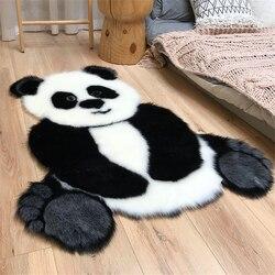 2020 nouveau tapis de fourrure salon tapis zone tapis pour salon Panda tapis tapis enfant chambre tapis maison plancher porte tapis moelleux tapis