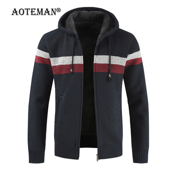 Men Sweater Jacket Bomber Fleece Coats Sport Warm Overalls Outwear Thick Male Clothing Hooded Winter Autumn Spring Jackets LM174