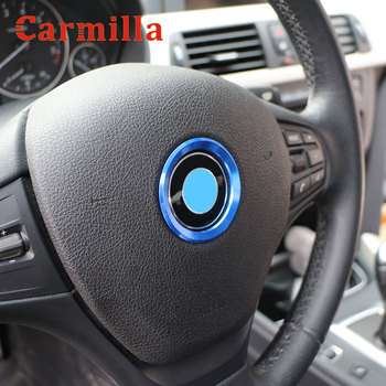 Carmilla Car Stickers for BMW 1 2 3 Series F20 F21 F30 F31 F34 F35 2010-2020 Steering Wheel Decoration Cover Circle Trim Sticker image