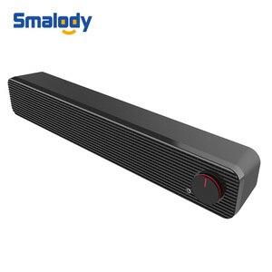 Image 1 - Smalody Soundbar 10W bilgisayar hoparlör 3.5mm kablolu hoparlör HiFi Stereo ses çubuğu USB Powered hoparlörler dizüstü bilgisayar için telefonları