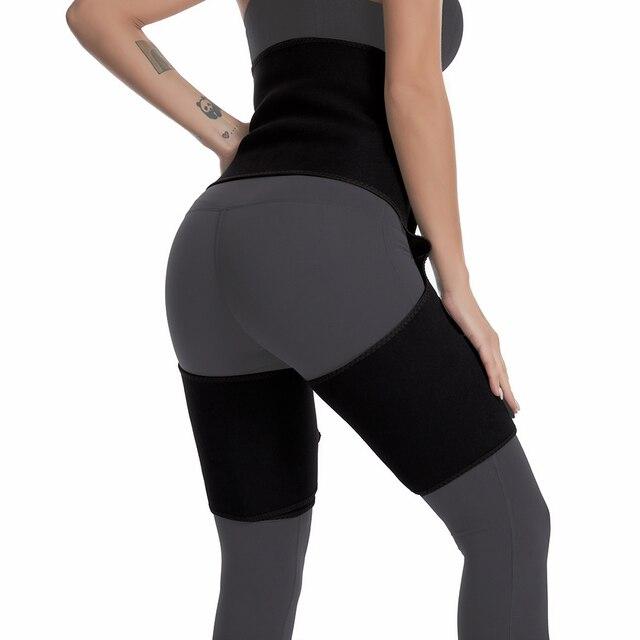 Slim Thigh Trimmer Leg Shaper Waist Trainer Slimming Belt Sweat Shapewear Body shaper Slimming Underwear Waist Shaper Pants 4