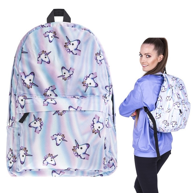 Unicorn Combo School Bags Girl Fashion Backpacks Female Student Campus Backpack Classic Backpack Mochila Feminina Frete Gratis