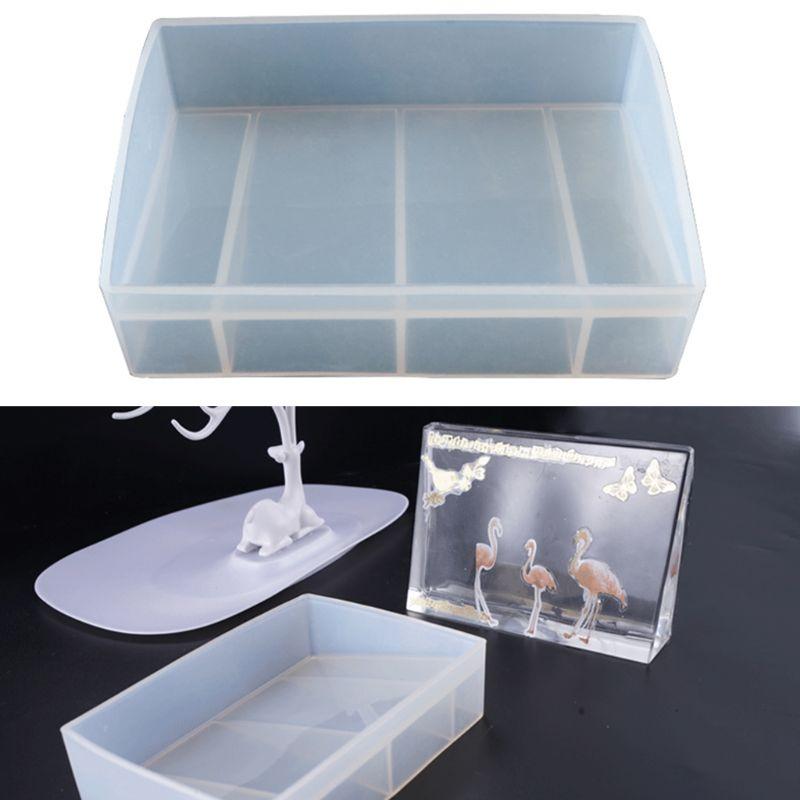 Rectangle Photo Frame Resin Pendant Jewelry Silicone Mold DIY Crafts Cake Making Tools UV Epoxy Molds