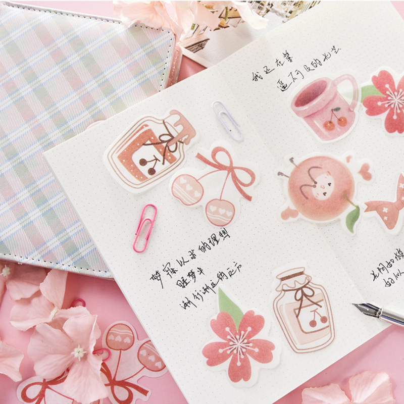 45 Pcs/Lot Pink Delicious Food Cake Paper Sticker Decorative Diary Scrapbook Planner Kawaii Stationery School Supplies Papeleria