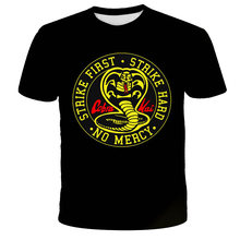 Classic Movie Cobra Kai 3D Printed T-Shirt Men/Women Fashion Casual Harajuku Style Round Neck Short Sleeve Sweatshirt Streetwear