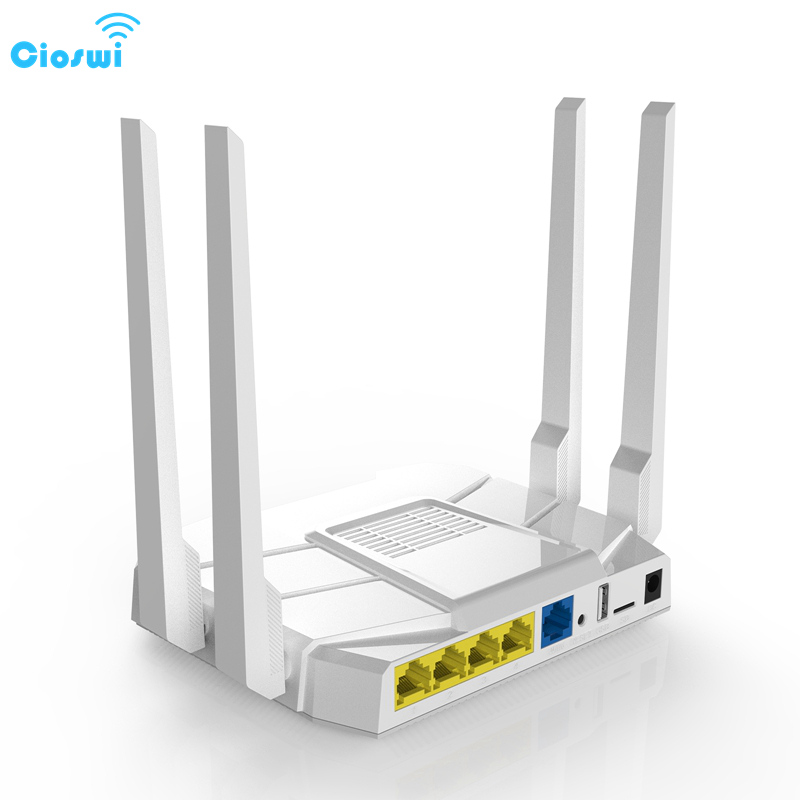 Cioswi MTK7628N Chip Dual Band 1200Mbps Professional Home Wireless Wifi Router High Gain Antenna Support 30 Devices Online