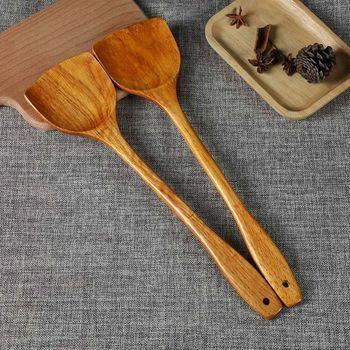 Naturalnie drewniane łopata do gotowania łopatka Turner naczynia kuchenne nieprzywierająca długa rączka naczynia kuchenne tanie i dobre opinie NoEnName_Null CN (pochodzenie) Drewna L69B9FF1101513 Zestawy narzędzi do gotowania