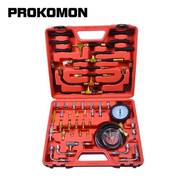 Probador de inyector de Bomba de Inyección de combustible de 0 140 PSI medidor de presión de gasolina