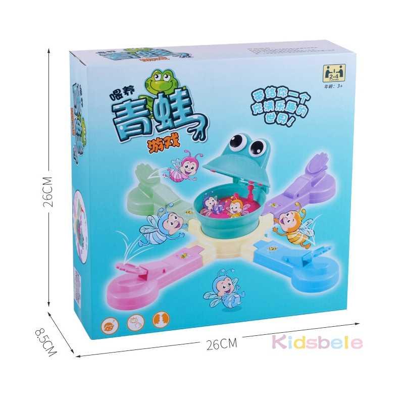 ให้อาหารกบกินบิสกิตเกมของเล่นตลกในร่มเด็กตาราง Interactive เกมกีฬาของเล่นไฟฟ้าเกมสำหรับเด็ก