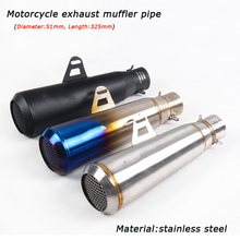 DB Killer Motorcycle Exhaust Muffler Pipe Silp on Header 51mm Stainless Steel Silencer System